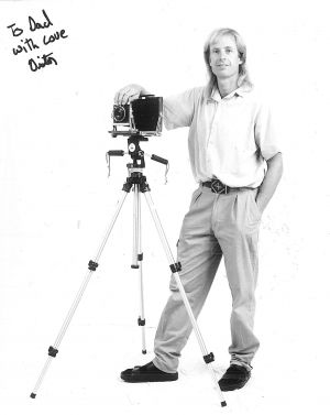 Victor Banta in his Tucson studio 1991.jpg